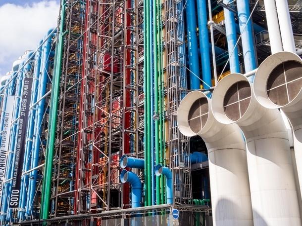 Centrum Georges Pompidou - fasáda