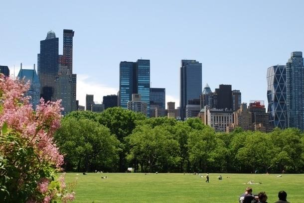 Hearst Tower - pohled z Central Parku