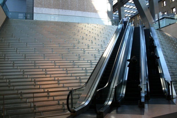 Hearst Tower - eskalátory