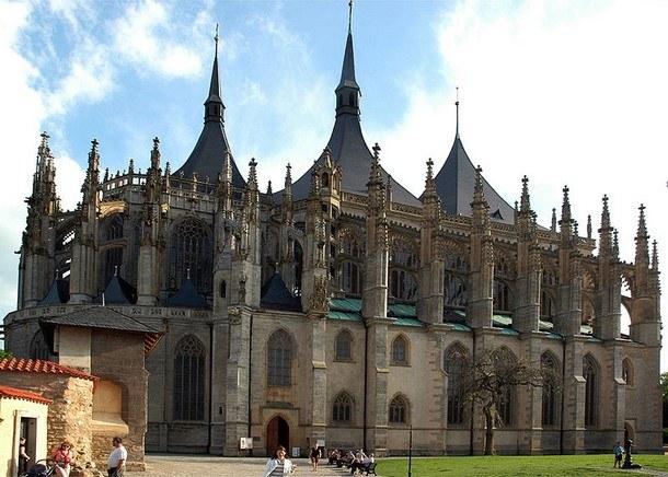 Gotika - Chrám sv. Barvory v Kutné hoře