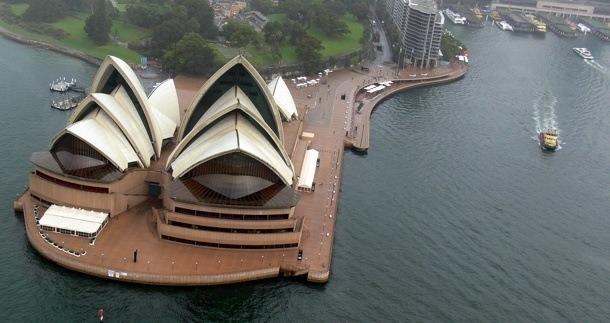 Opera v Sydney - pohled
