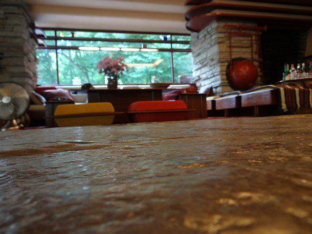 Vila nad vodopádem - interiér